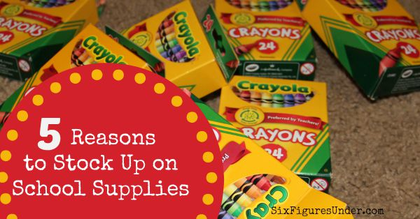 Why we stock up on school supplies