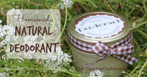 Homemade Natural Deodorant-- Aluminum free, Paraben Free