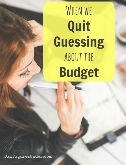 Some people see budgets as a spreadsheet full of guesses.  Wouldn't it be great to stop guessing about the budget?  Living on last month's income has done that for us!