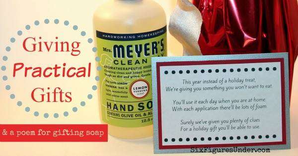 Giving Practical Gifts-- and a poem for gifting soap