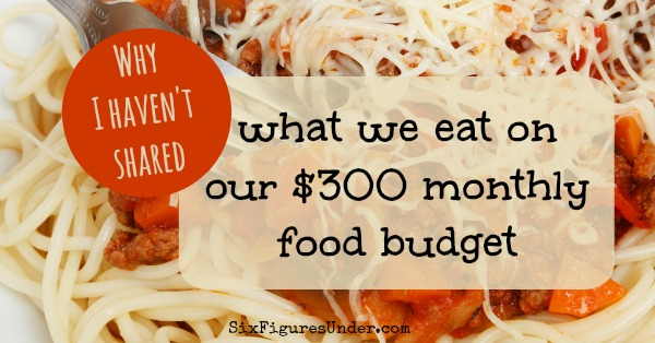 Why I haven't shared what we eat on our 300 dollar food budget
