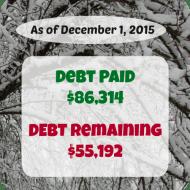 November 2015 Debt Repayment Progress Report