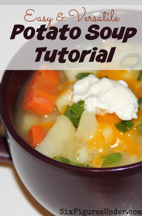 Instead of a recipe, here's an easy potato soup tutorial. Forget exact measurements-- I'll show you how to wing it and use what you have. It's never the same twice, but it's always delicious.