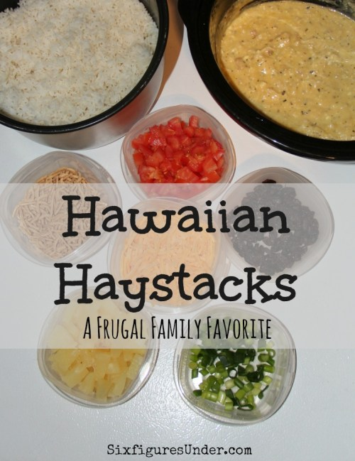 Hawaiian Haystacks is a favorite dinner for everyone. Kids love picking their toppings and moms love that it's a simple, fast, and frugal. It's sure to be a crowd-pleaser at your house too!