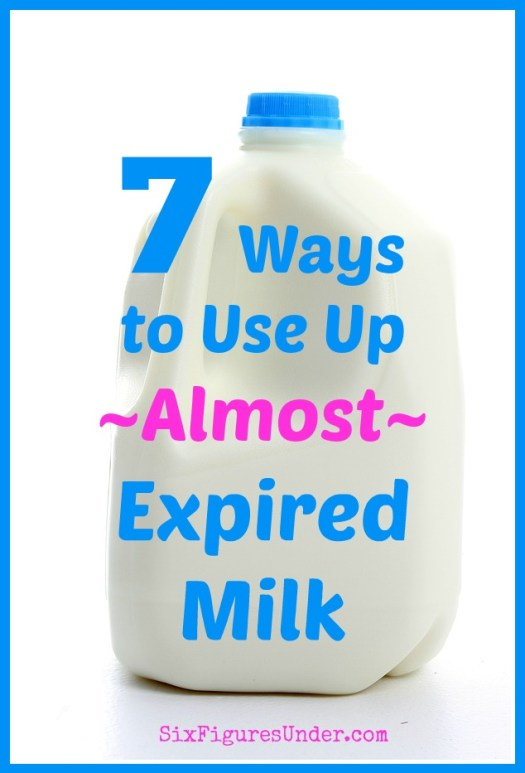 Are you dumping money down the drain? If you're letting your milk spoil and then pouring it out, then that's exactly what you're doing! Here are 7 great ways to use milk when it's about to expire and some milk expiration FAQ too!