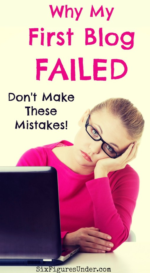 I don't talk much about my first attempt to make money blogging. Why? Because it was a failure. A complete flop! I pretty much did everything wrong. Thankfully, what I learned from my failed blog has helped me succeed with my current blog. Don't make these mistakes!