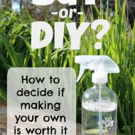 Is it worth it to make your own cleaning and personal care products?