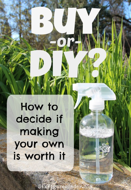 Homemade isn't just for food anymore. People are making everything from laundry detergent and toilet cleaner to face wash and toothpaste. The big question is: Is it worth it? This will help you know if making your own cleaning and personal care products is worth it for you.