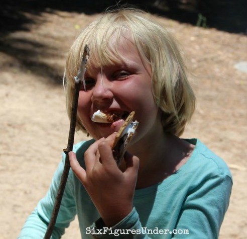 We love finishing off our camping meals with s'mores