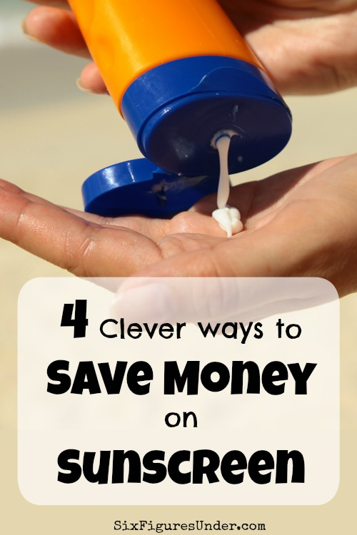 There's no doubt that sunscreen is important for protecting your skin, but sunscreen in also expensive! These four smart hacks will help you save money on sunscreen!