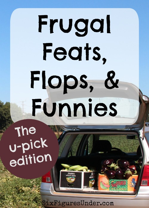In the Frugal Feats, Flops, and Funnies weekly series, you'll get day-to-day snippets of the frugal life. Share your own experiences so we can all learn from, laugh with, and be motivated by one another!