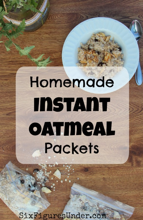 Homemade instant oatmeal packets are great for a fast, frugal, and filling breakfast that kids can make themselves. Making your own homemade instant oatmeal packets in bulk is a simple way to save time and money.