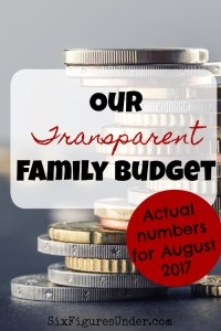 Family Budget Update– August 2017