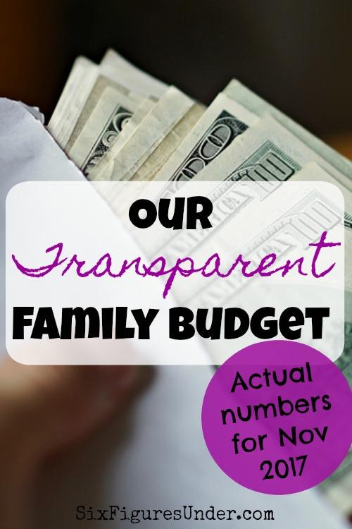 Family Finances | Real Budget | Transparent Family Budget | How to Budget Example