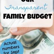 Family Budget Update– September 2017