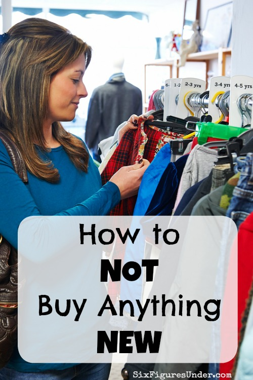 Could you go a year without buying anything new? While it sounds radical, the long- and short-term benefits make the effort worth it.