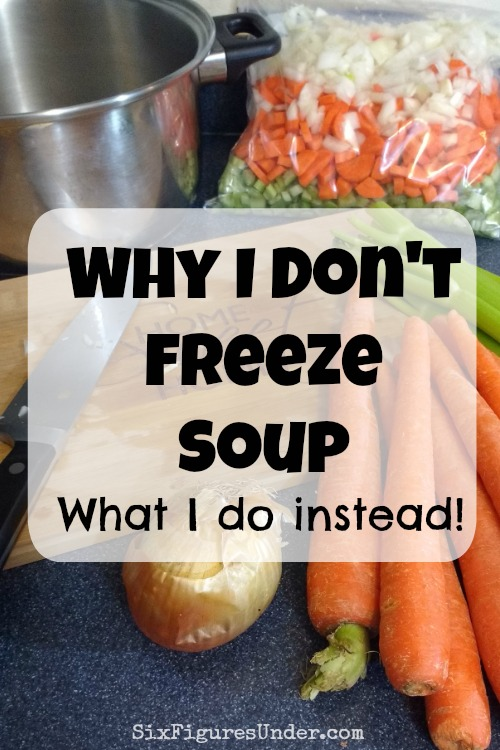 Freezing Soup | Freezer Tip | Freezer Cooking | Frugal Meals | Time Saving Money Saving