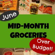 We're Over-Budget– June's Mid-Month Grocery Shopping