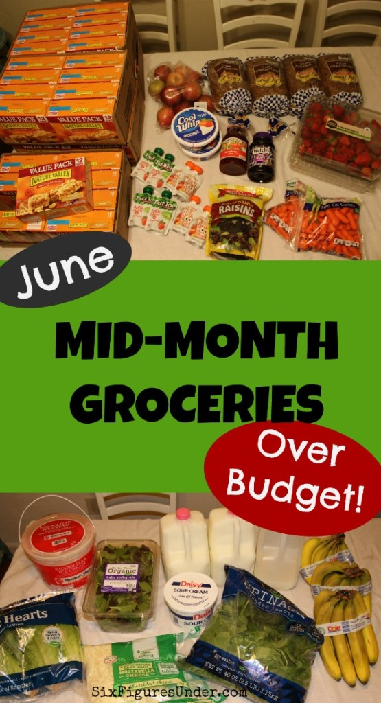 This family normally sticks to a $400 food budget for a family of 7, but this month they went over the grocery budget on purpose. See what they got and why they're fine with going over budget.