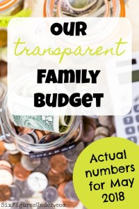 Transparent Family Budget Update — May 2018