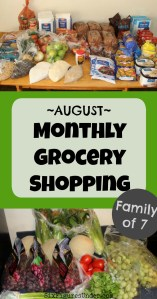 Frugal Family Monthly Grocery Haul– August 2018 (and what happened in July)