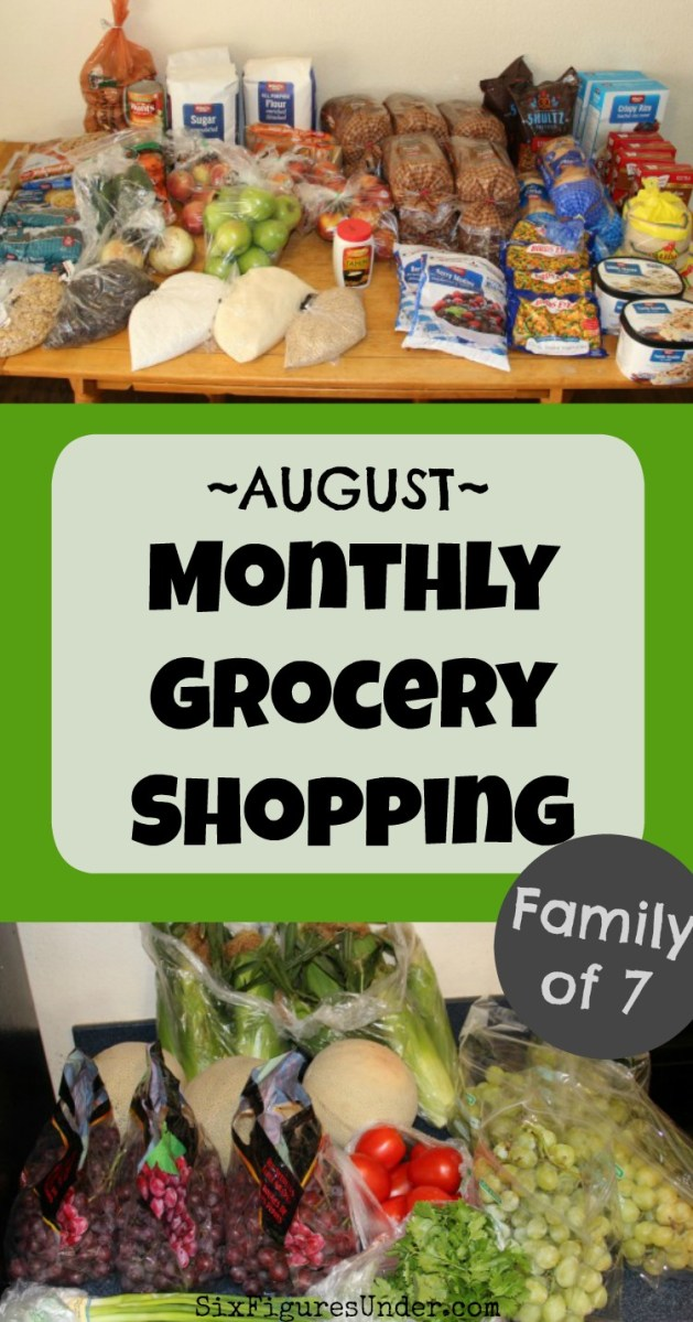 Frugal Family Monthly Grocery Haul-- August 2018 (and what happened in July)