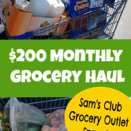 September Monthly Grocery Haul