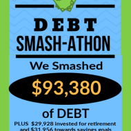 Debt Smash-athon APRIL Progress Report