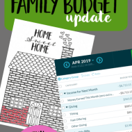 Real Family Budget Update– April 2019