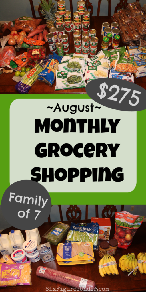 Want to see what we buy in our monthly grocery shopping for our family of 7? Here's everything we bought in August!