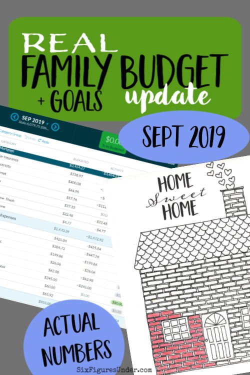 This family shares their real budget including income, expenses, savings goals, and debt payoff.