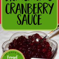 Homemade Cranberry Sauce– Frugal Festivities Day #22