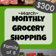 Monthly Grocery Shopping– March 2020