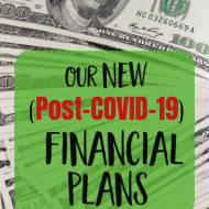 Big Changes to Our Financial Goals (post COVID-19)