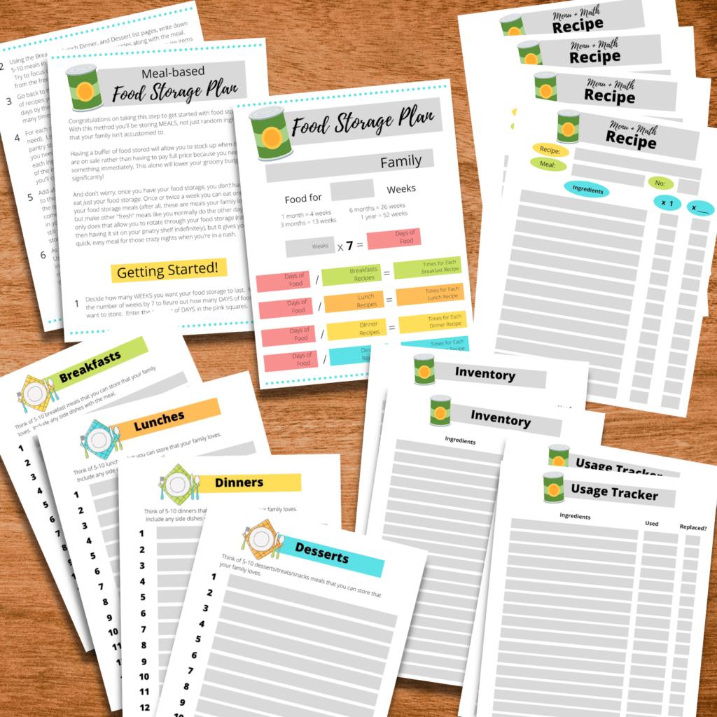 Food Storage Worksheets 2