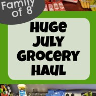 July 2020 Grocery Haul– More Re-stocking Food Storage