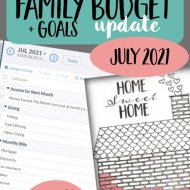 Real Family Budget Update- July 2021