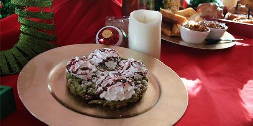 Special funnel cakes just for Holiday in the Park.
