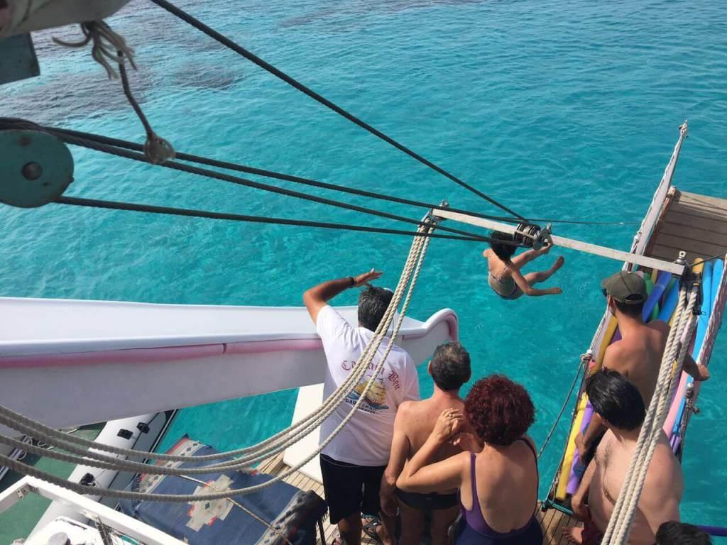 slide-from-boat-greece