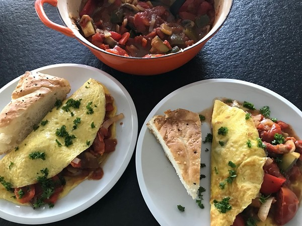 omelet met ratatouille