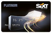 Platinum card for Sixt car rentals