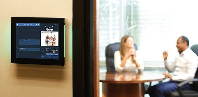 Touchscreen room sign. Source: Visix