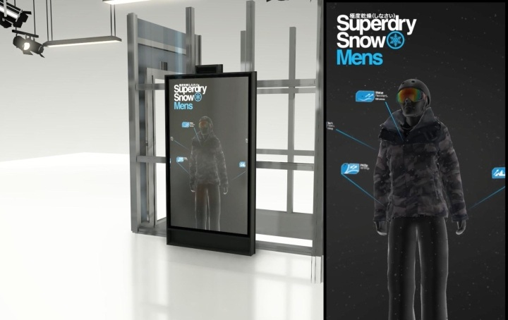 the best attitude 77909 86e6d Superdry's Berlin Flagship Tries On Gesture-based Virtual ...