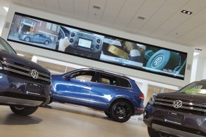 Projects: Toronto VW Dealer Welcomes Customers With Massive 2 by 8 Video Wall