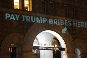 Guerrilla Projection-Mapping In DC Takes Visual Swipe At Trump