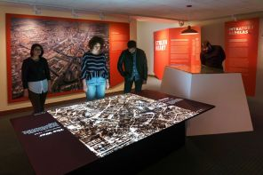 Projects: Projection-Mapped Video Table Powerfully Illustrates Nazi Looting