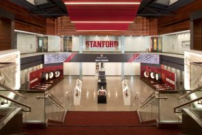 Big Curving LED Welcomes Visitors To Stanford's New House Of Champions