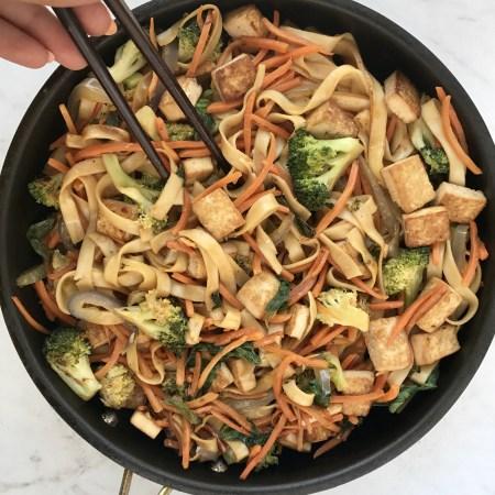 Homemade Veggie Lo Mein