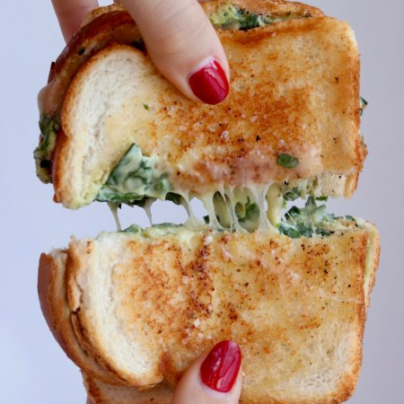 Spinach Dip Grilled Cheese