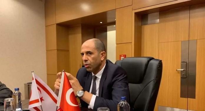 Kuzey Kıbrıs Dışişleri Bakanı Özersay'dan Doğu Akdeniz çağrısı